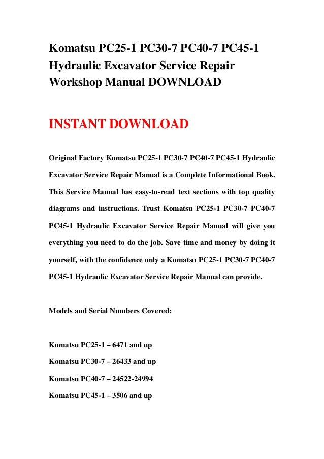 download komatsu pc20 6 pc30 6 pc40 6 excavator service shop manual