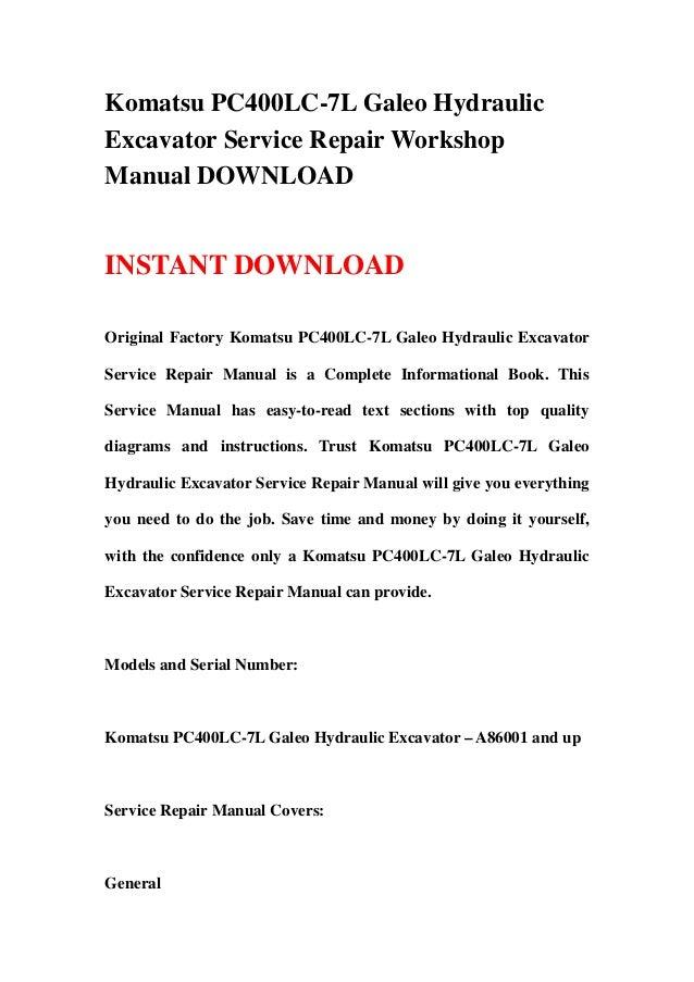download komatsu excavator pc400lc 8 pc400 service repair workshop manual