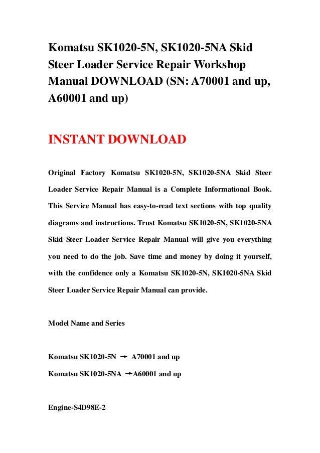 Komatsu Sk1020 5 N  Sk1020