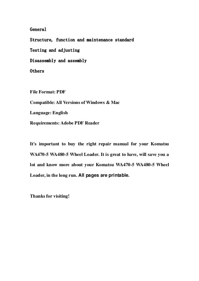 GeneralStructure, function and maintenance standardTesting and adjustingDisassembly and assemblyOthersFile Format: PDFComp...