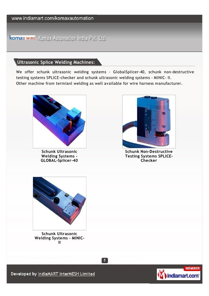 Komax Automation India Pvt Ltd Gurgaon Wire Processing