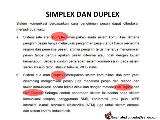 Komunikasi data 1 simplex dan duplex email dedidudedoyahoo ccuart Gallery