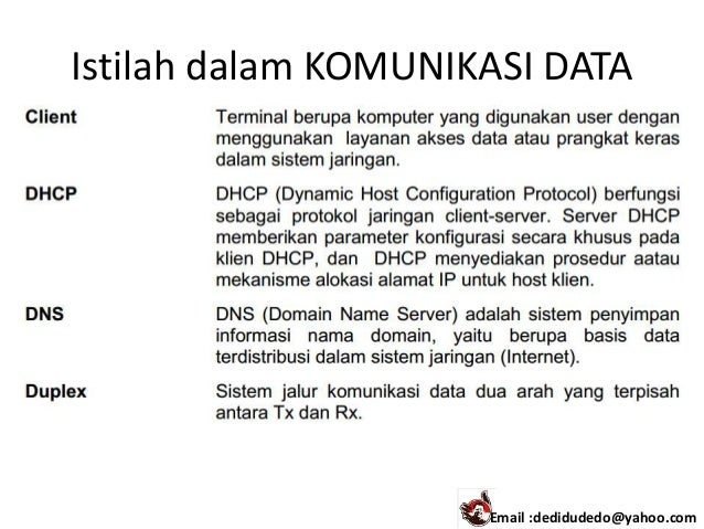 Komunikasi data 1 istilah dalam komunikasi data email dedidudedoyahoo ccuart Gallery