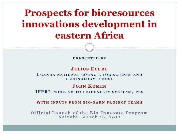 Presented by<br />Julius Ecuru<br />Uganda national council for science and technology, uncst<br />John Komen<br />IFPRI p...