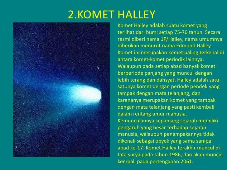 15++ Komet yang muncul setiap 76 tahun sekali adalah komet ideas
