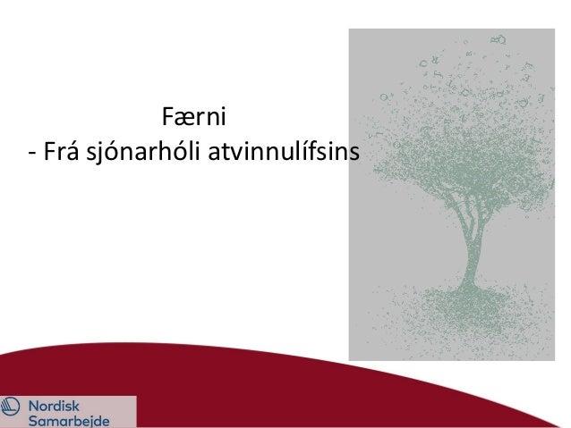 Færni - Frá sjónarhóli atvinnulífsins