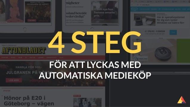 FÖR ATT LYCKAS MED AUTOMATISKA MEDIEKÖP 4 STEG