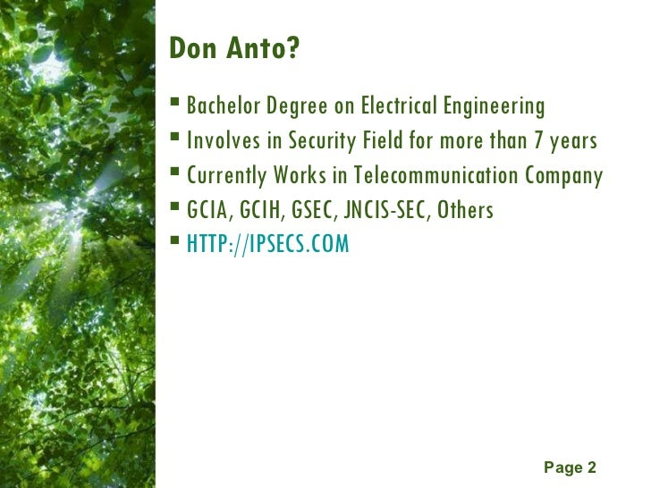 Network & Computer Forensic  Slide 2