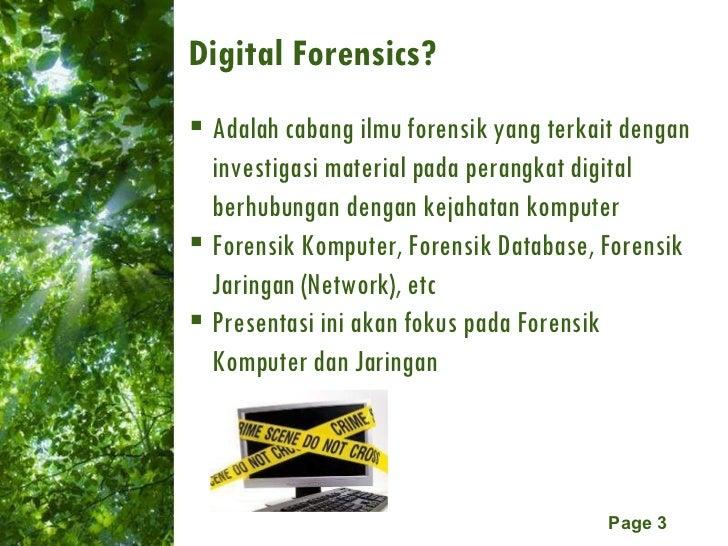 Network & Computer Forensic  Slide 3