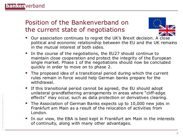 """What does a """"hard Brexit"""" mean for banks? Slide 2"""