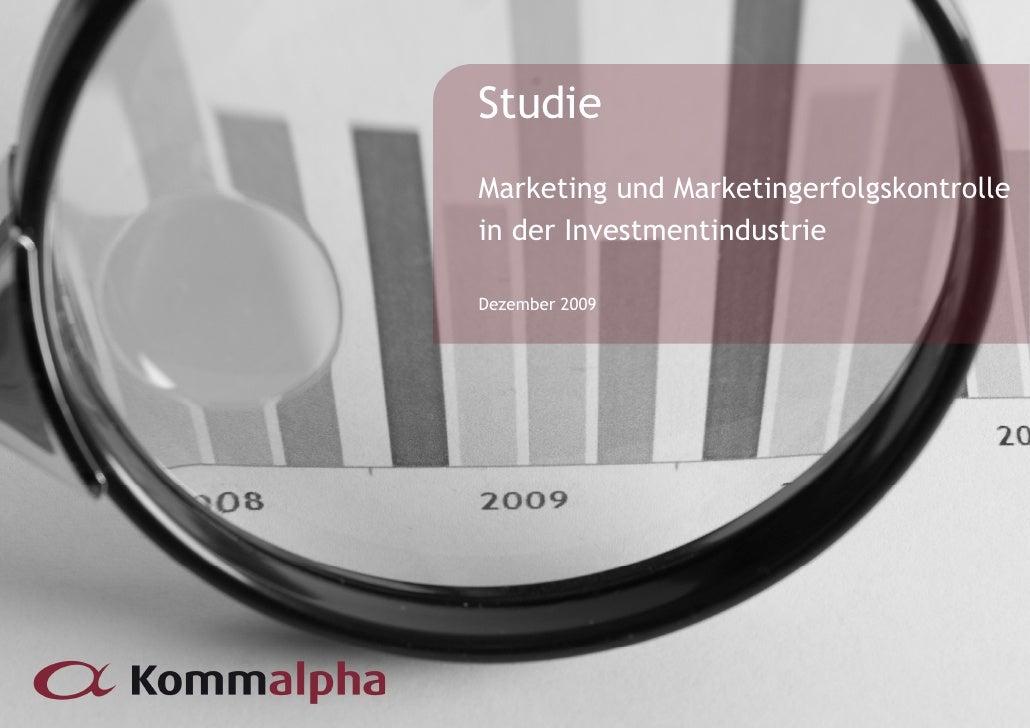Studie Studie Marketing und Marketingerfolgskontrolle Wie viele ETFs braucht der in der Investmentindustrie Markt? Dezembe...