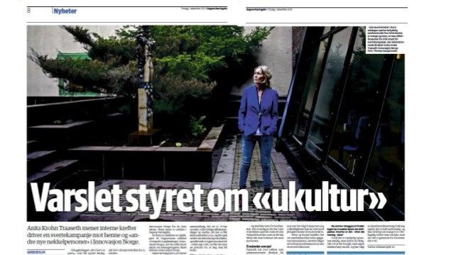 «…Som sjef for norsk innovasjons fremtid, velger hun nye mediekanaler i sin kommunikasjon… Nå irriterer hun vettet av trad...