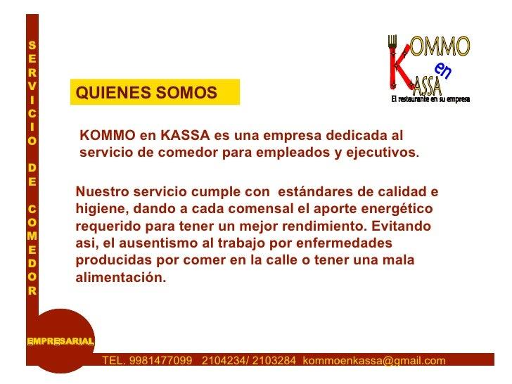 Kommo en kassa comedor emp - Servicios de comedor para empresas ...