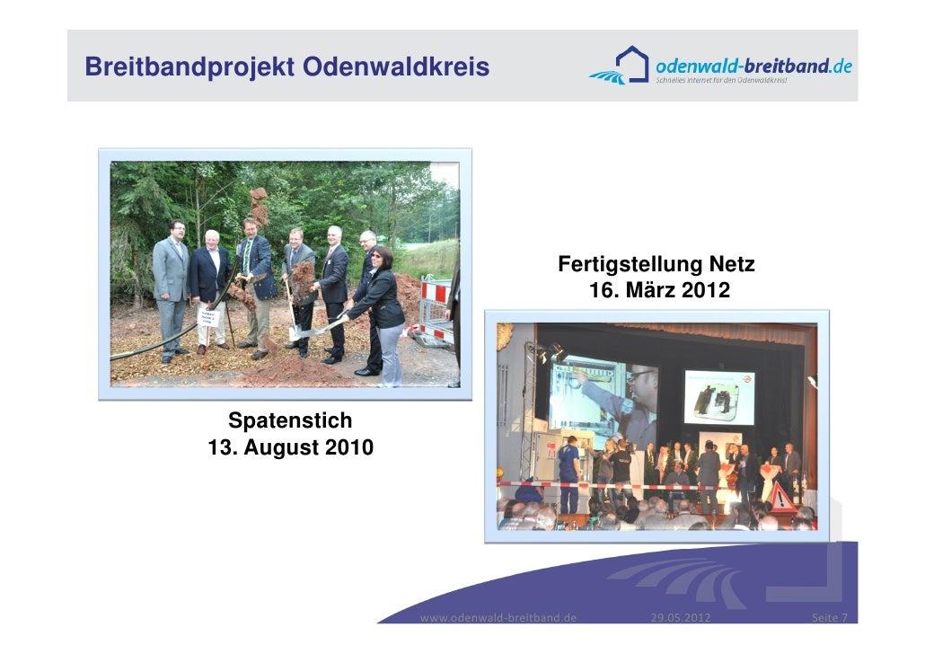 Breitbandprojekt Odenwaldkreis                                                Fertigstellung Netz                         ...