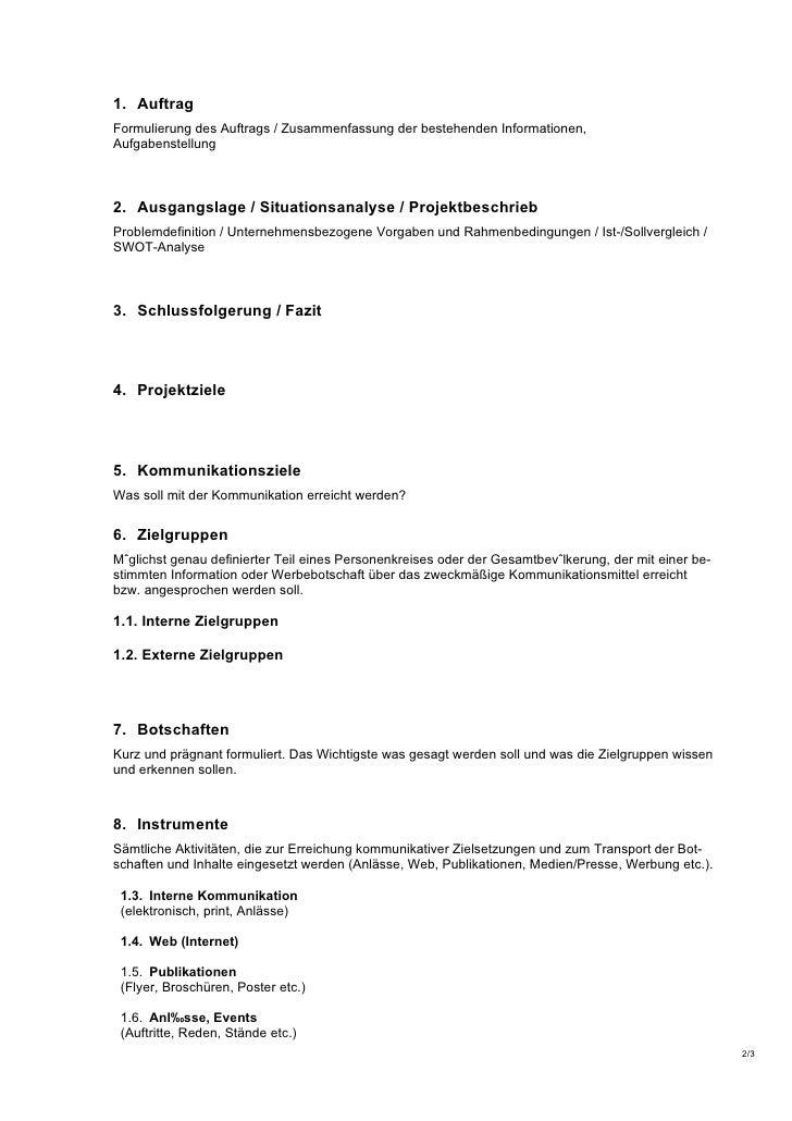Kommunikationskonzept Formular