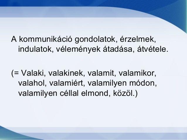 Kommunikáció Slide 2