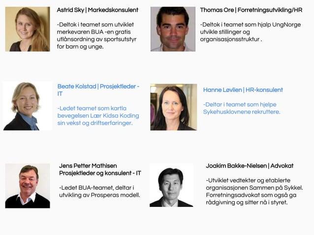Astrid Sky   Markedskonsulent -Deltok i teamet som utviklet merkevaren BUA -en gratis utlånsordning av sportsutstyr for ba...
