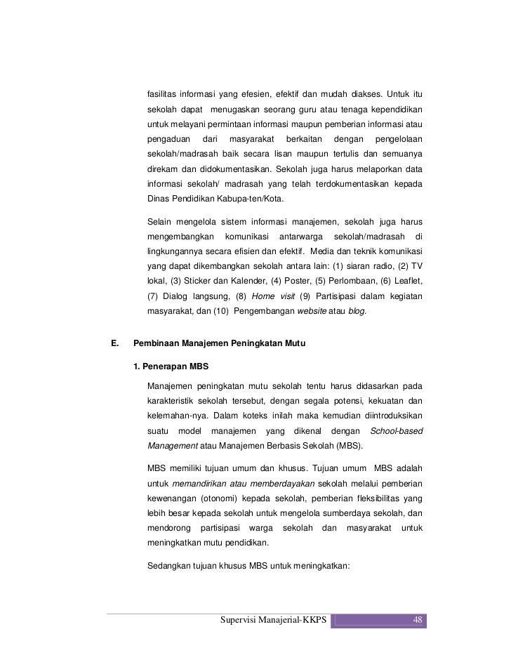 Kompetensi Supervisi Manajerial Pengawas Sekolah