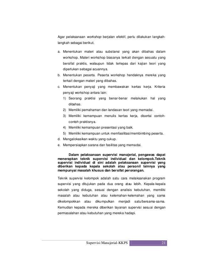 Kompetensi Supervisi Manajerial Kkps