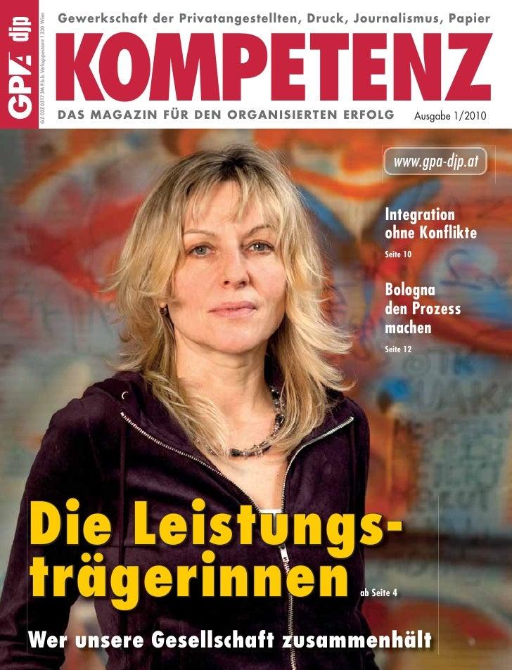 Gewerkschaft der Privatangestellten, Druck, Journalismus, Papier  GZ 02Z03173M P.b.b.Verlagspostamt 1230 Wien             ...