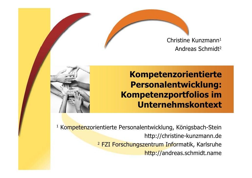 Christine Kunzmann1                                              Andreas Schmidt2                               Kompetenzo...