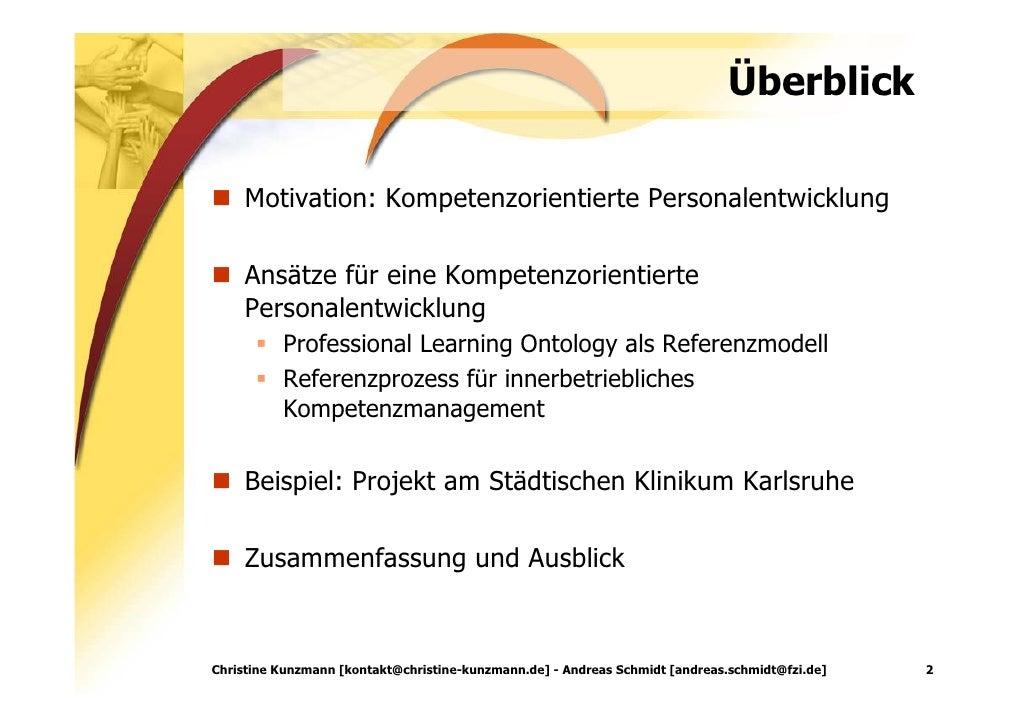 Kompetenzorientie Personalentwicklung: Kompetenzportfolios im Unternehmenskontext Slide 2