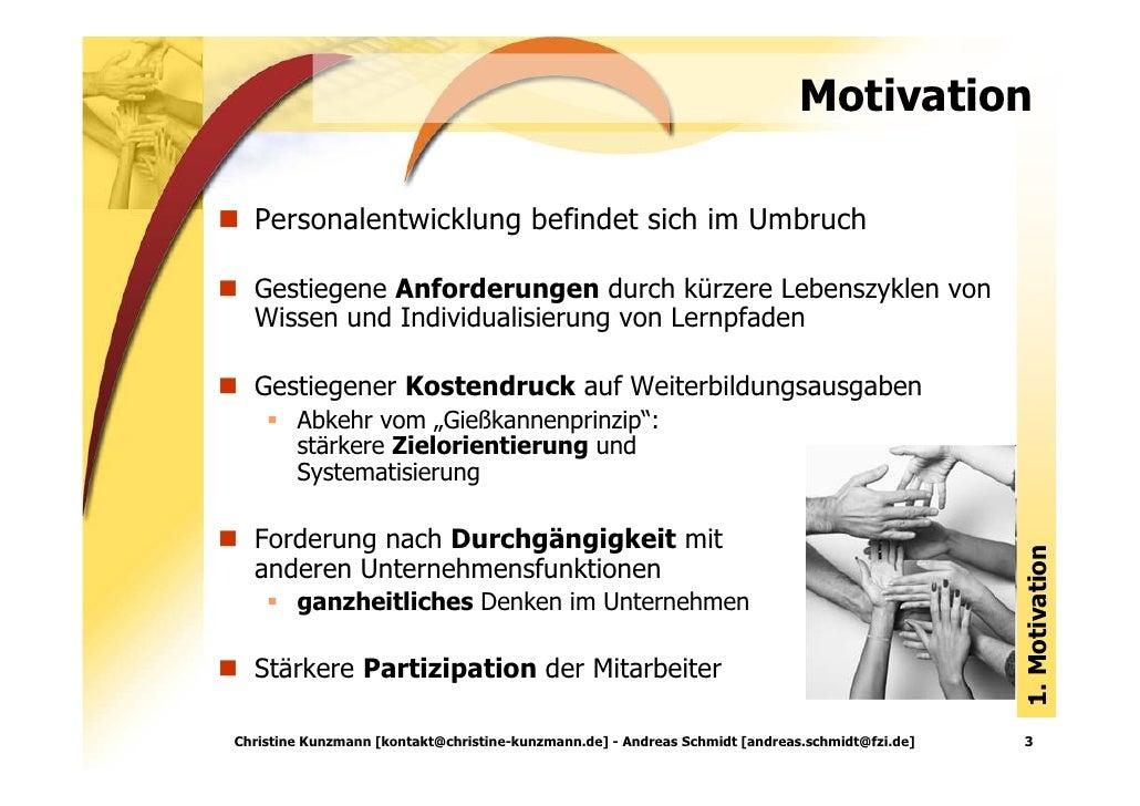Kompetenzorientie Personalentwicklung: Kompetenzportfolios im Unternehmenskontext Slide 3