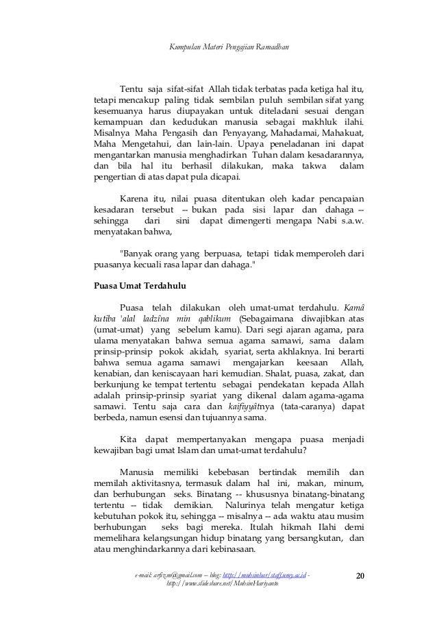 Kompilasi Materi Ceramah Ramadhan 1432 H