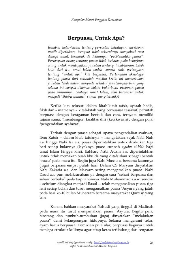 Contoh Pidato Ramadhan - Gambaran