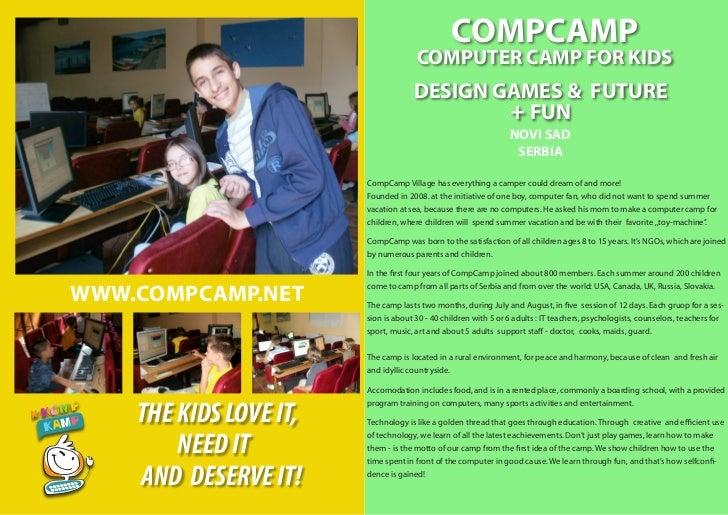 COMPCAMP                                      COMPUTER CAMP FOR KIDS                                     DESIGN GAMES & FU...
