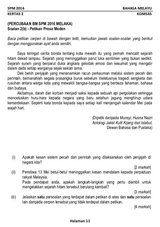 Contoh Soalan Komsas Bintang Hati Kuora 2