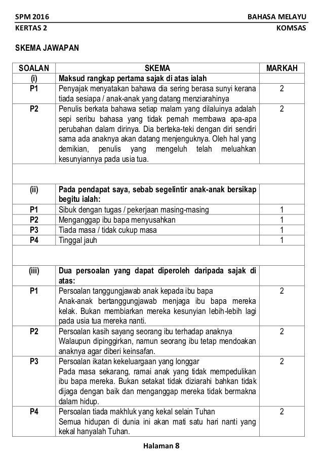 Contoh Soalan Komsas Erti Hidup Bererti Terengganu T