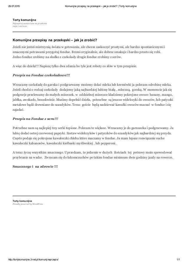 29.07.2015 Komunijneprzepisynaprzekąski–jakjezrobić?|Tortykomunijne http://tortykomunijne.3net.pl/komunijneprze...