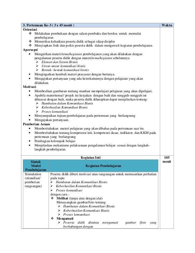 Rpp Smk Komunikasi Bisnis Kelas Xi