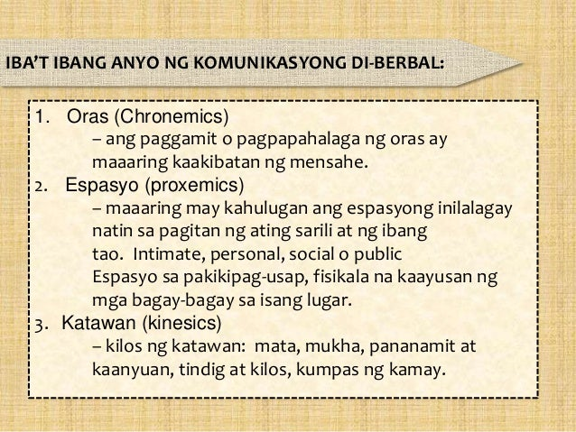 Komunikasyon Akademikong Filipino Tungo Sa Epektibong Komunikasyon Chronemics help us to understand how people perceive and structure time in their dialogue and relationships with others. filipino tungo sa epektibong komunikasyon