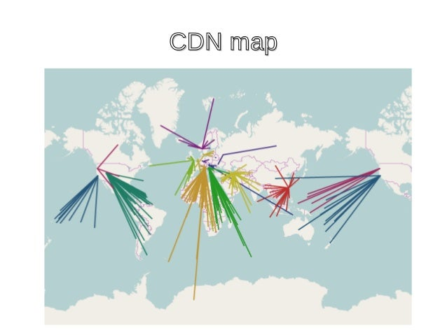 CDN mapCDN map