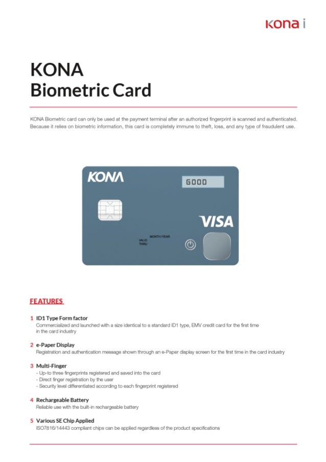 Kona Biometric Card