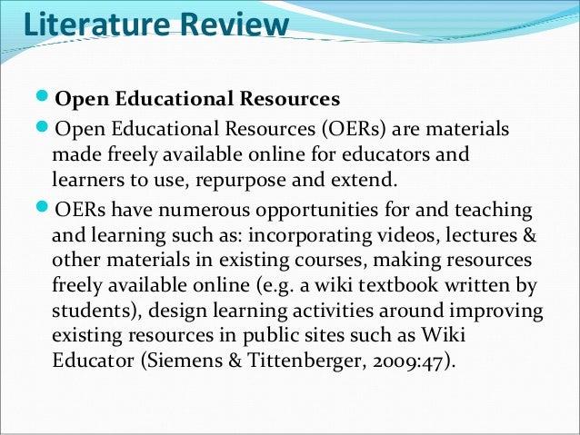 literature review education