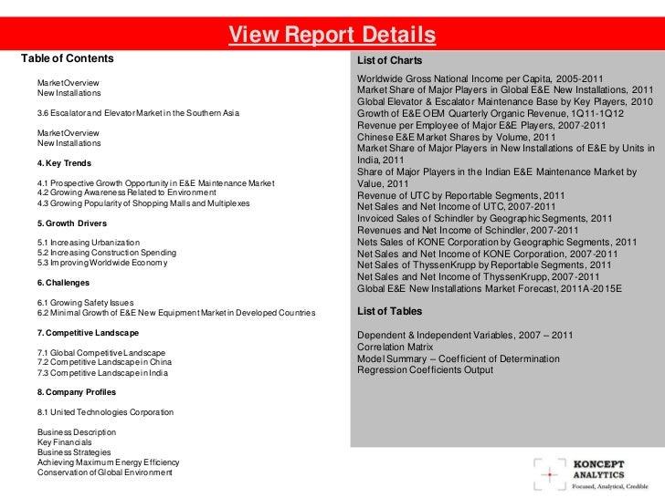Global Escalator & Elevator Market: 2012 Edition