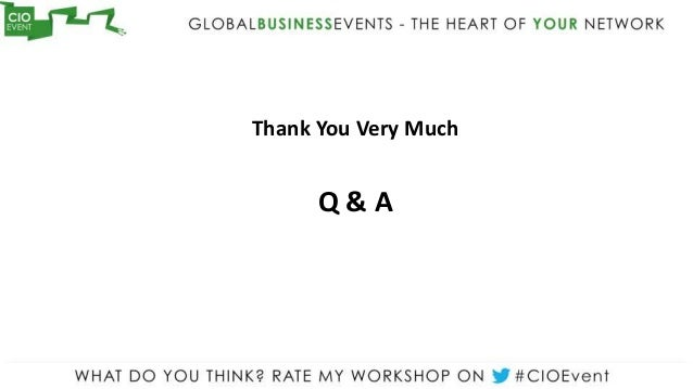 Thank You Very Much      Q&A