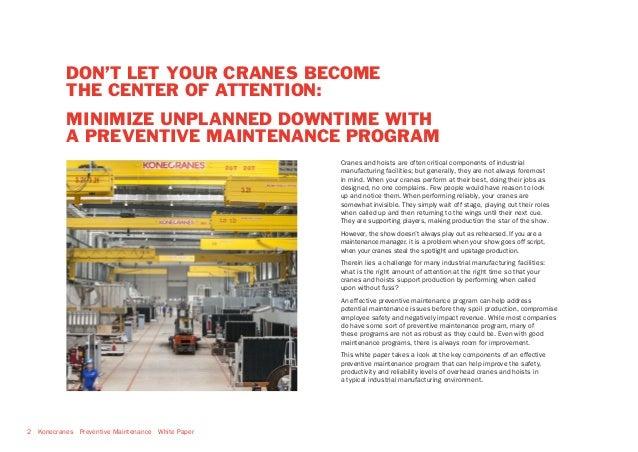Konecranes Overhead Crane Preventive Maintenance White Paper