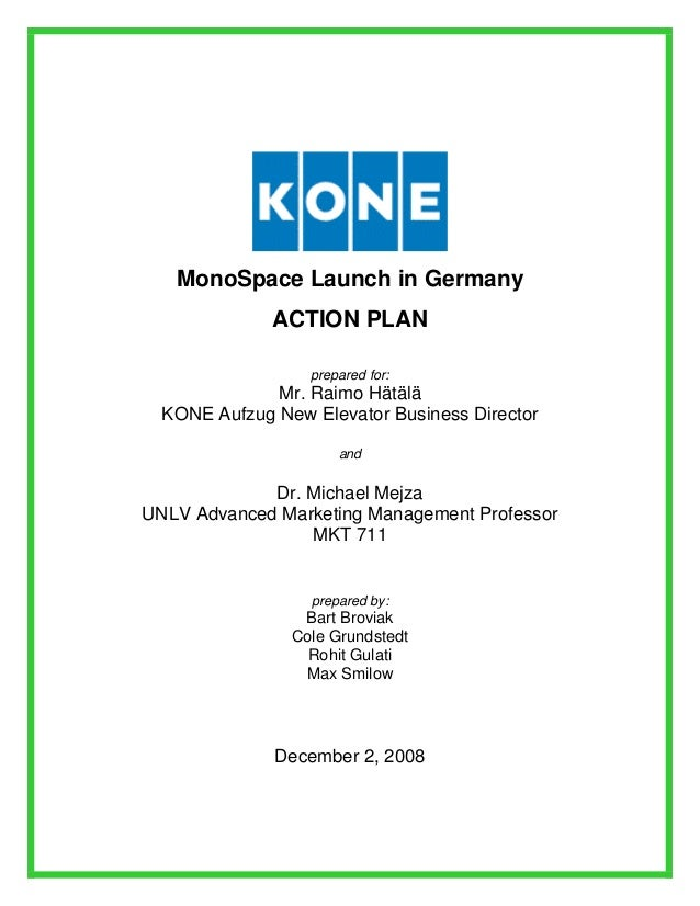 kone marketing plan for monospace Kone e monospace discover the kone e monospace, an economical elevator solution designed for residential buildings  discover how we tailor your maintenance plan to uniquely match your site and equipment, whatever the brand or type service descriptions  customer experience and marketing director started at kone: 1998.