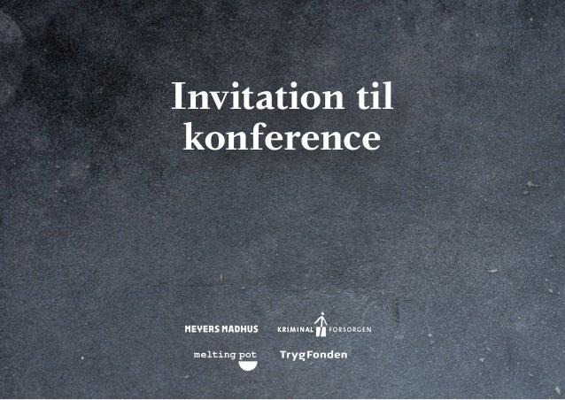Invitation til konference