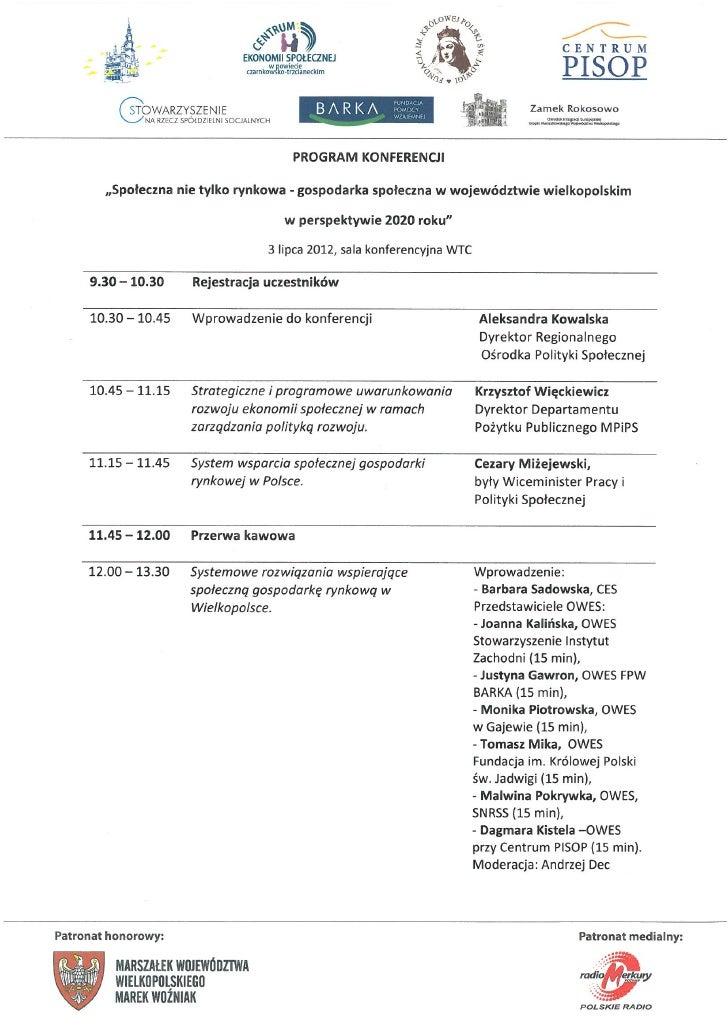 Konferencja spoleczna nie_tylko_rynkowa