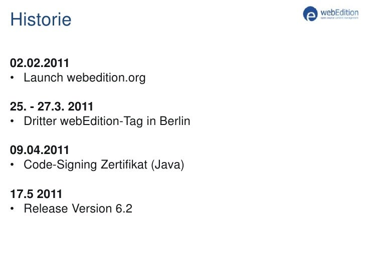 Gründung des Vereins</li></ul>20.06.2010<br /><ul><li>Umstellung auf eigenes Hosting-Paketwebedition.de SiteBugbaseForumDo...