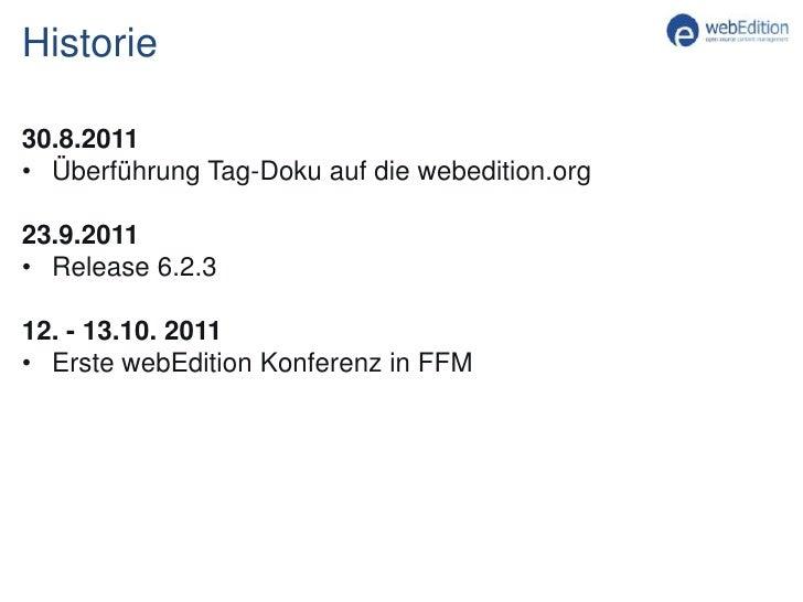 Ausbau der Site webedition.org