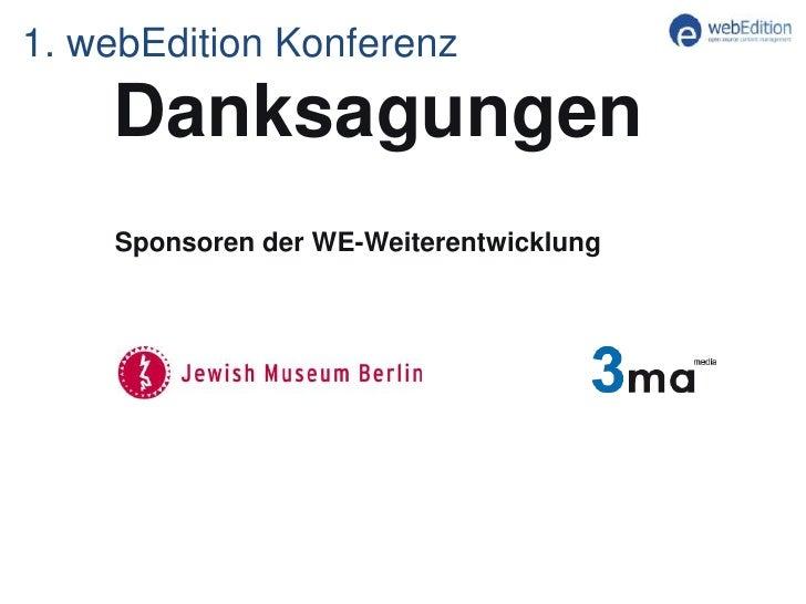 Keynote der 1. webEdition Benutzer Konferenz 2011 in Frankfurt Slide 3