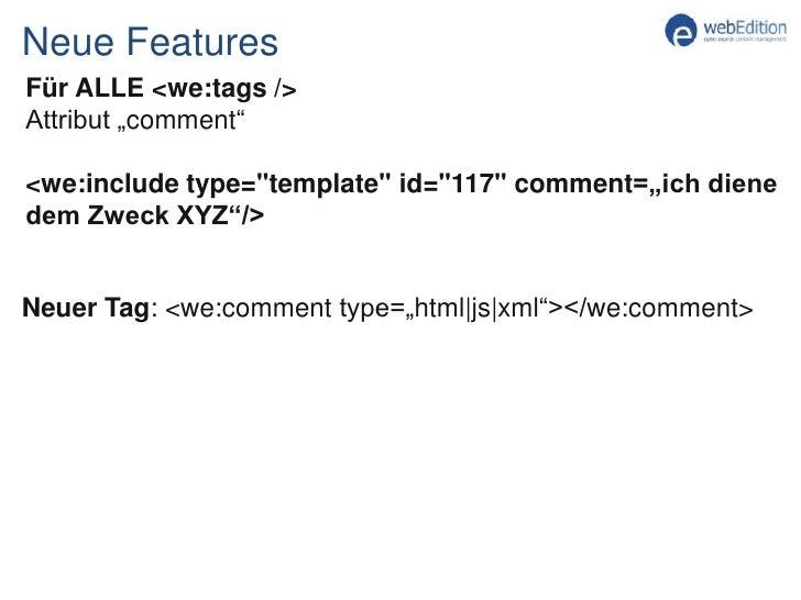 In Arbeit:App für die Integration eines kleinen Forums: we:tinyForum</li></ul>download.webedition.org<br />Todo:<br /><ul>...