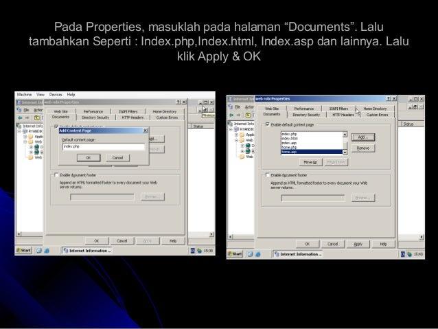 "Pada Properties, masuklah pada halaman ""Documents"". LaluPada Properties, masuklah pada halaman ""Documents"". Lalu tambahkan..."