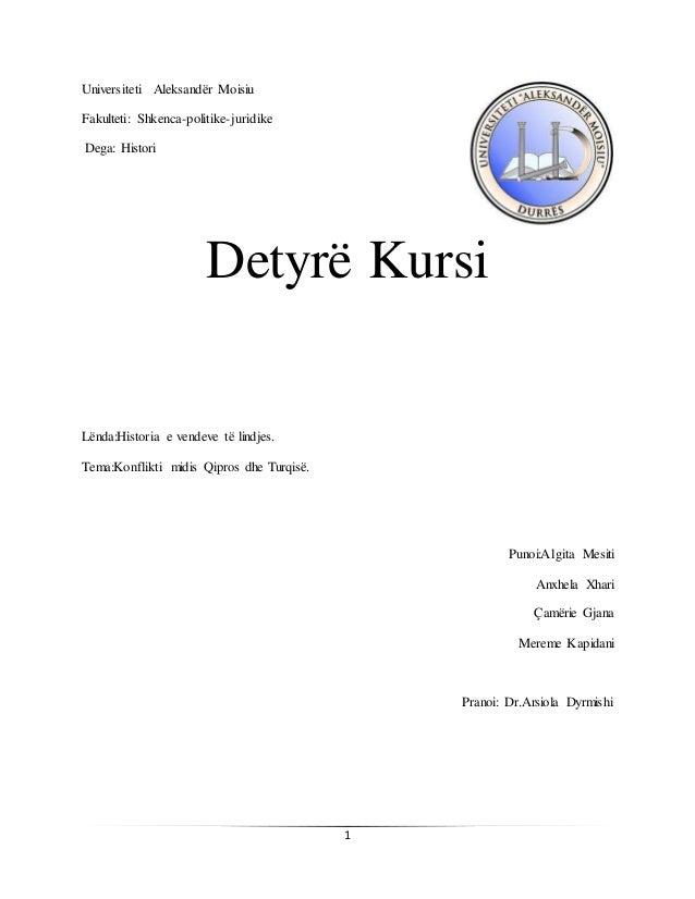 1 Universiteti Aleksandër Moisiu Fakulteti: Shkenca-politike-juridike Dega: Histori Detyrë Kursi Lënda:Historia e vendeve ...